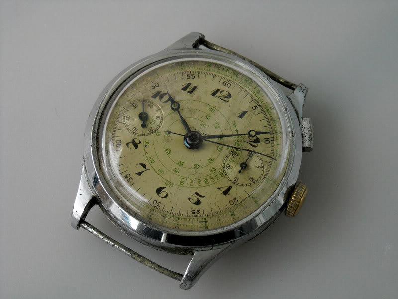 "Monopoussoir Chronographe Hahn-Landeron 15 1/2'"" 07"