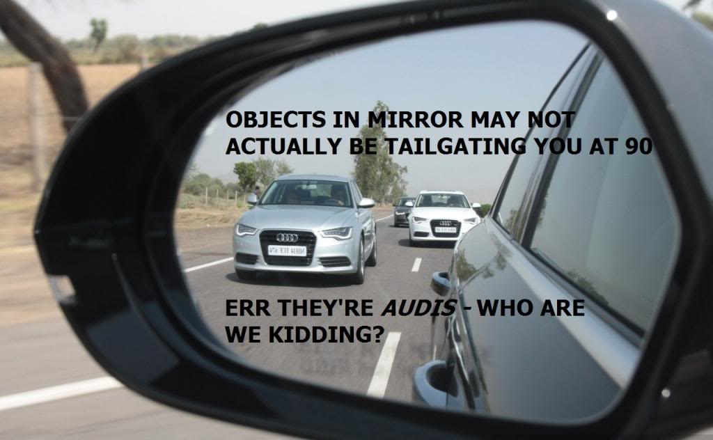 MG MAURICE GARAGES ANNOUNCE AARDVARQ® ELECTRONIC AUDI DETECTION ASSISTANT FOR 6 TSE Audi-rear-view-mirror2_zps35825645