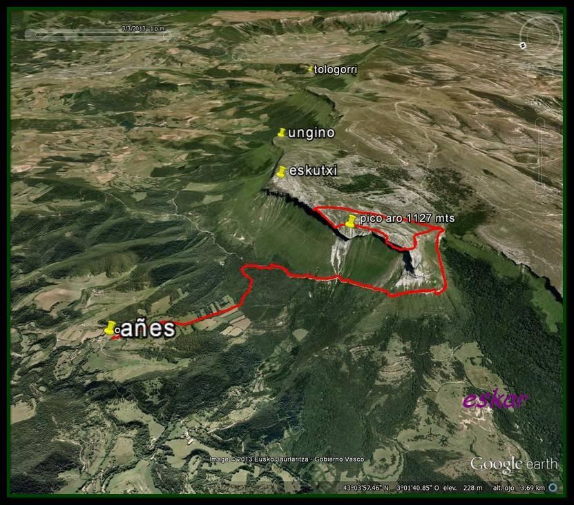 PICO ARO 1127 MTS DESDE AÑES Track1