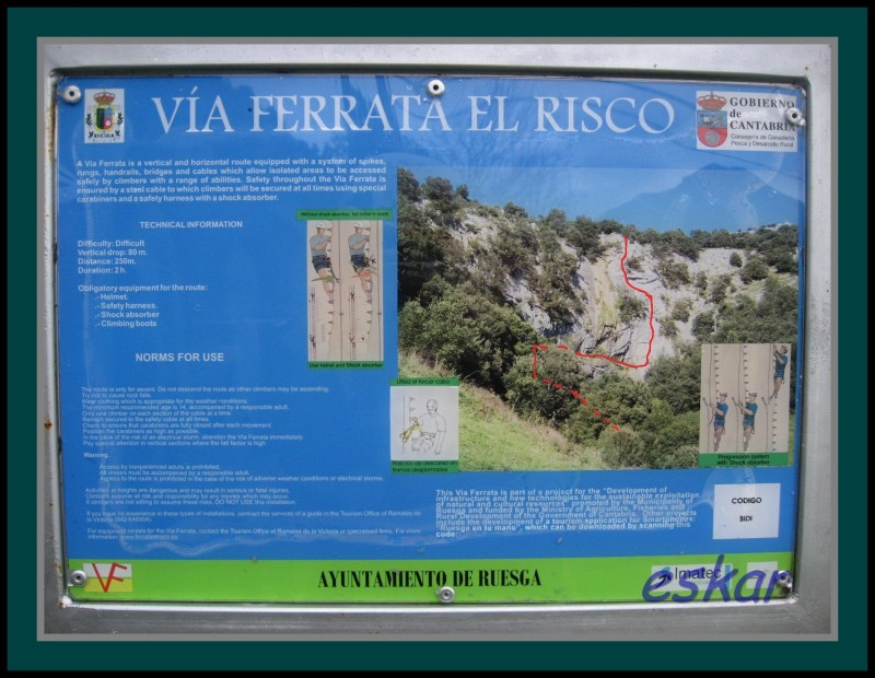 FERRATA EL RISCO matienzo de ruesga (cantabria) Vferrataelrisco8