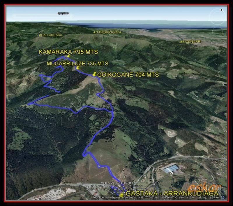 GOIKOGANE704mts- MUGARRILUZE 735 mts- KAMARAKA 795 mrs TRACK