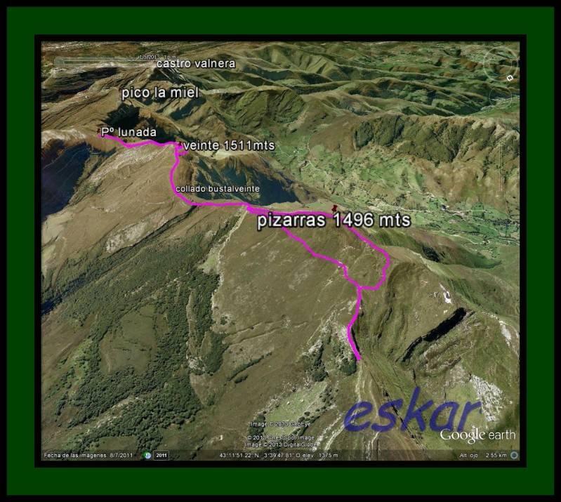 EL VEINTE 1511MTS Y PIZARRAS 1496 MTS (CORDAL DE VAGA) Trackpizarras