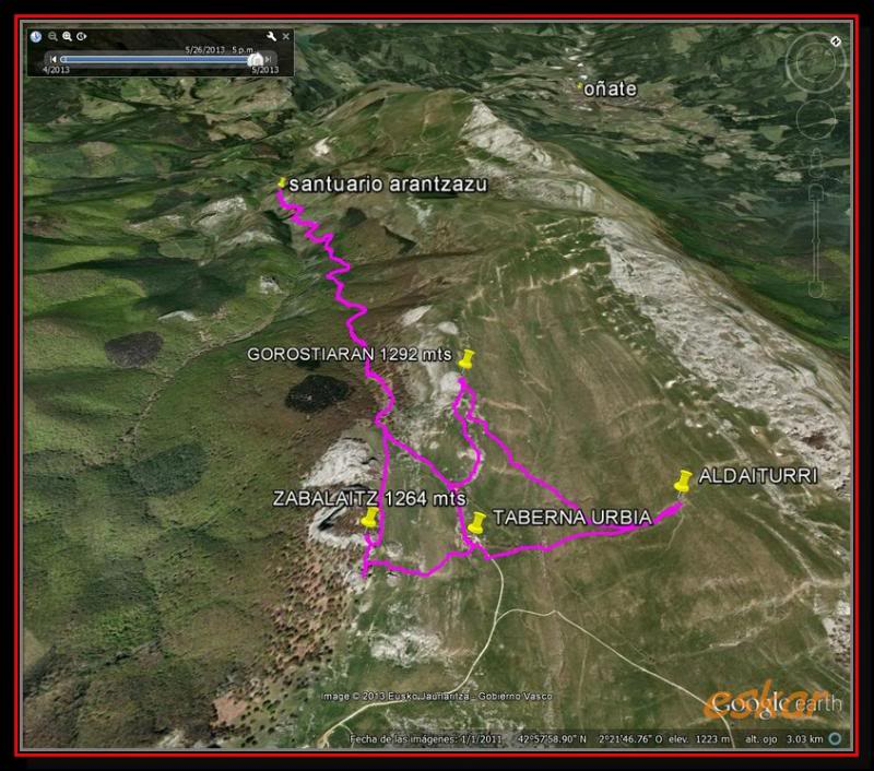 ZABALAITZ 1264 MTS Y GOROSTIARAN 1292MTS  MAS LA ZEGAMA MARATOIA Urbia