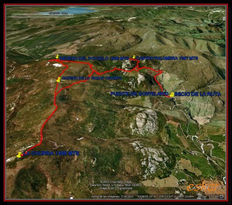 NEVERO DEL POYUELO 1508 MTS Y LA CHURRA 1498 MTS TRACKNEVERODELPOYUELO