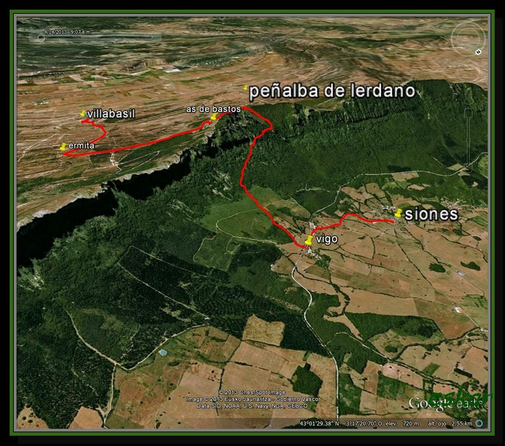 travesia VILLABASIL- LERDANO 1244 MTS - SIONES T1