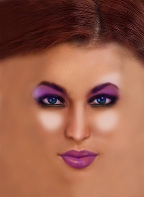 Mek-up in Corel Paintshop Pro Hilda_NakedFace