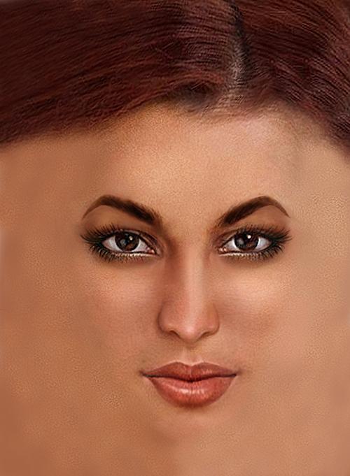 Mek-up in Corel Paintshop Pro Hilda_NakedFace1