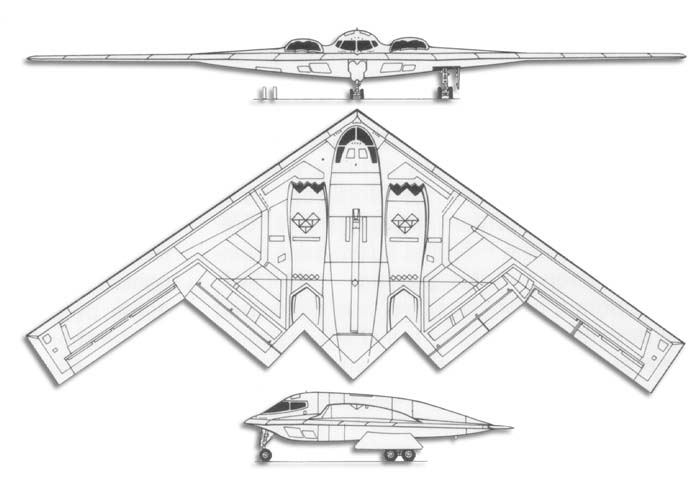 B-2 Spirit LIne_drawb2spirit