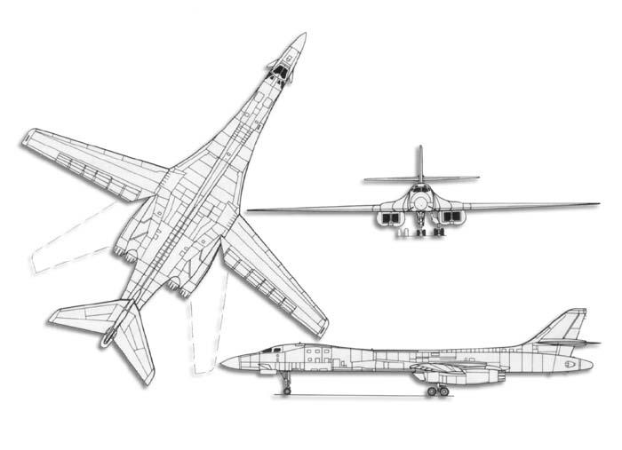 B-1 Lancer Line_drawlancer