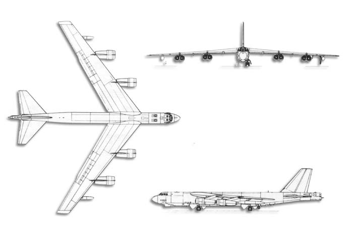 B-52 Stratofortress Line_drawstratofortress