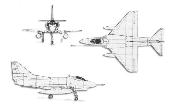 A-4 Skyhawk Line_drawa4skyhawk
