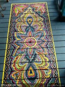 Ручная роспись деревянного пола. Идеи D5f0ca3a391e1d17d4c0a6d68d69f71d