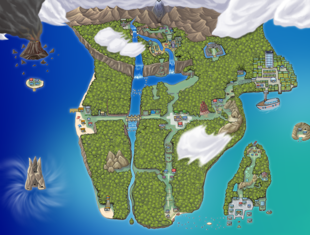 FireRed Hack - Pokemon Rose Version [English] HolyStarMapXousFinalSized