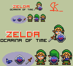 Zelda Ocarina of Time Mini Mock-up Link4