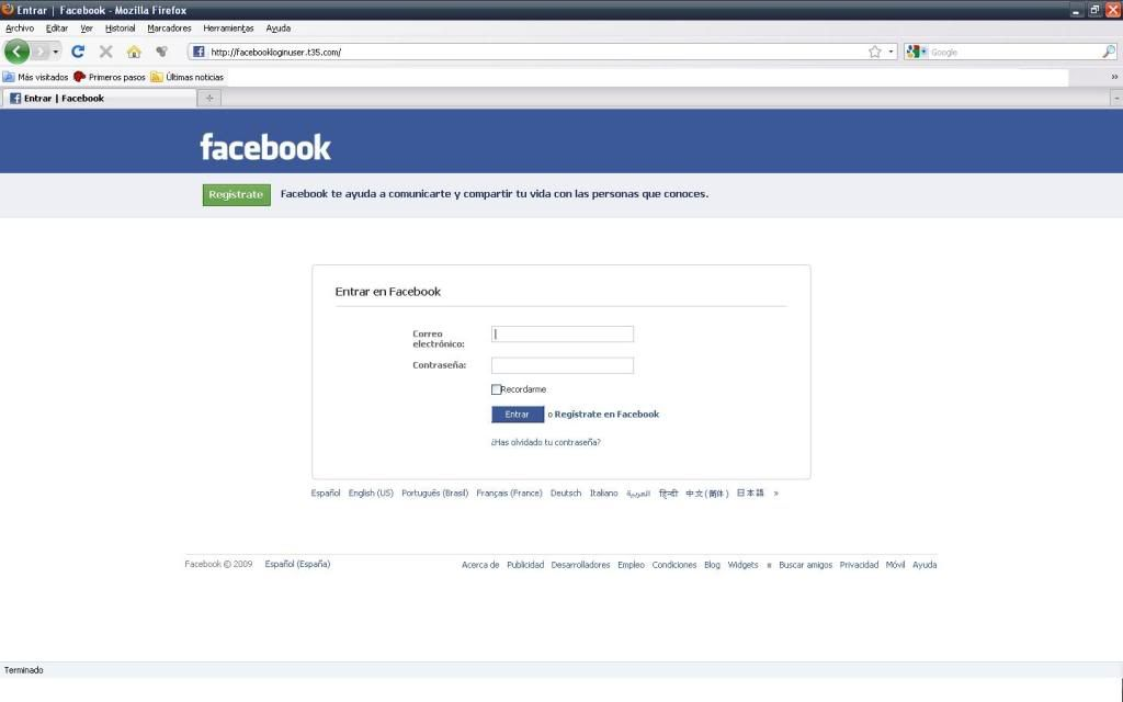 Fake Facebook Facebook