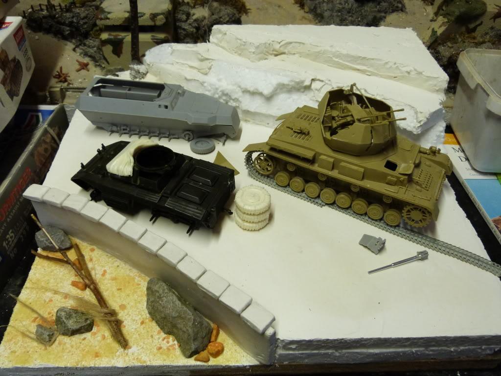 flakpanzer wirbelwind /sdkfz 251 / m20 + diorama ardennes P1000503