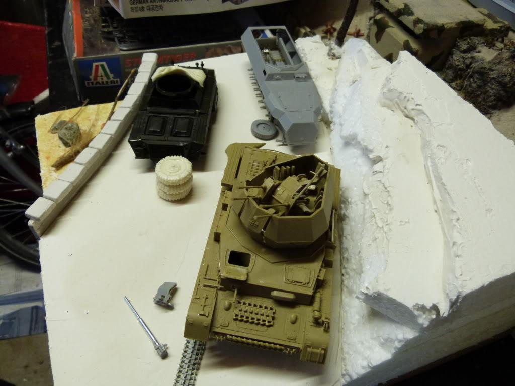 flakpanzer wirbelwind /sdkfz 251 / m20 + diorama ardennes P1000505