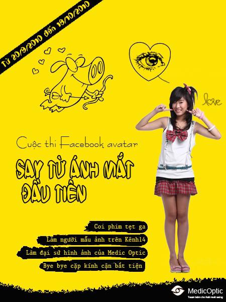 """New!!! Cuộc thi avatar """"Say từ ánh mắt đầu tiên"""" trên Facebook các bạn cùng tham gia ngay nhé!! Postercuocthi3chung"""