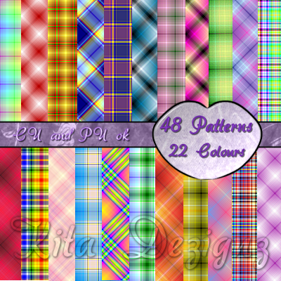 Plaid Patterns By: Kita Dezignz CUPatternsPreviewFreebie