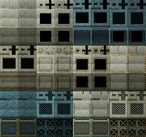 Tiles set moderne et futuristes Z18-TileA4