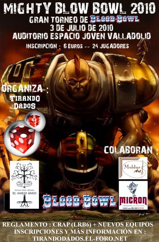 MIGHTY BLOW BOWL - SÁBADO 3 DE JULIO EN VALLADOLID - BLOOD BOWL, REGALOS Y MÁS!! CartelmightyDEFINITIVO