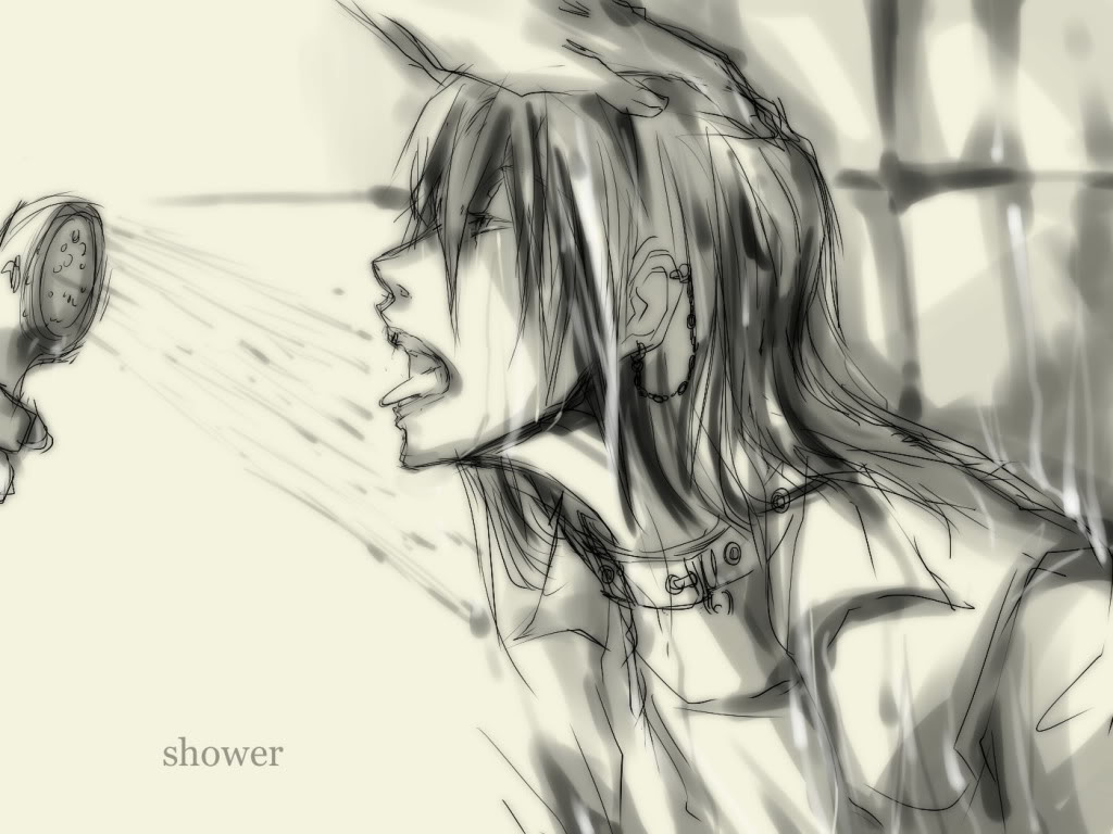Sky [Murdoc] Shower_by_gadriann-d39sw1p