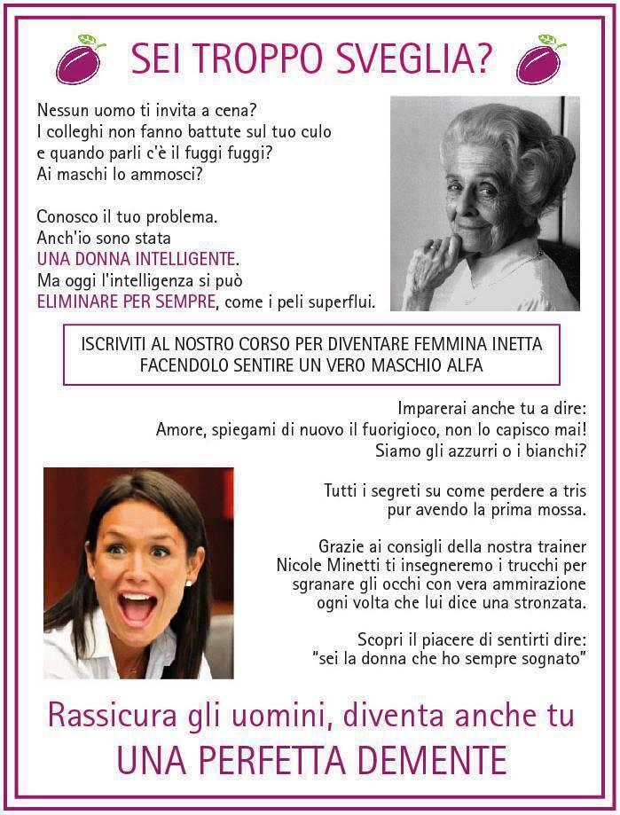 La Rauti combatterà il femminicidio odiando il femminismo, ostacolando la 194 e.. - Pagina 3 Seitropposveglia