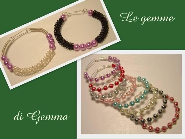 Anelli in wire- collane perle in rete a colori e bracciali candy queen Fotolavorirecenti11