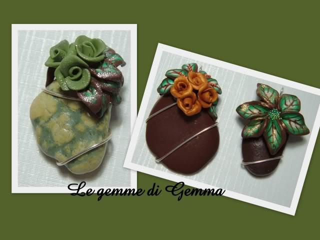 Schizzo d'autunno-Cristalli floreali-Pietre floreali-Ciondoli little flowers e blue flower- collana gold flower Fotolavorirecenti3