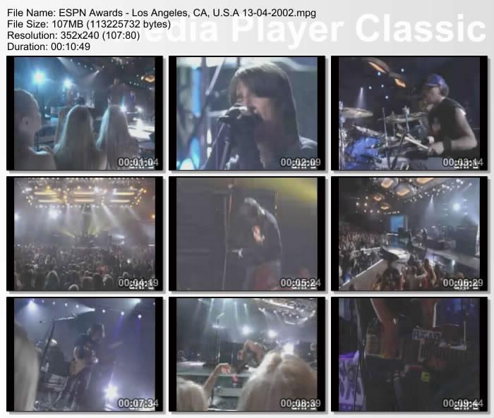 [Video] 2002.04.13 - Universal Amphitheatre, Los Angeles, CA, USA - ESPN Awards 20020413