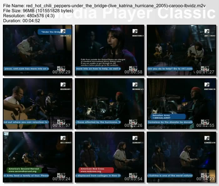 [Video] 2005.09.10 - Paramount Studios, Los Angeles, CA, USA - ReAct Now: Music and Relief 20050910