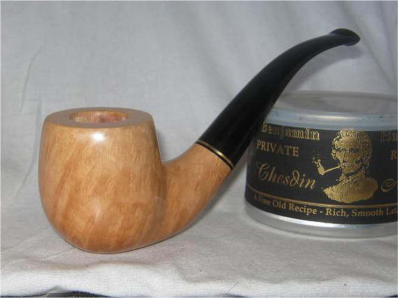 """dye used to achieve a """"natural"""" or standard finish on a pipe April005"""