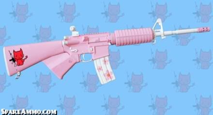 azz Hello-kitty-pink-ar-15-ar15-m16-ass