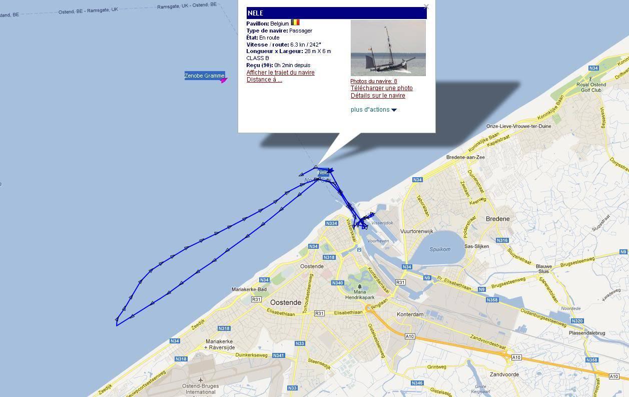 sortie en mer lors de Oostende à l'Ancre Nele