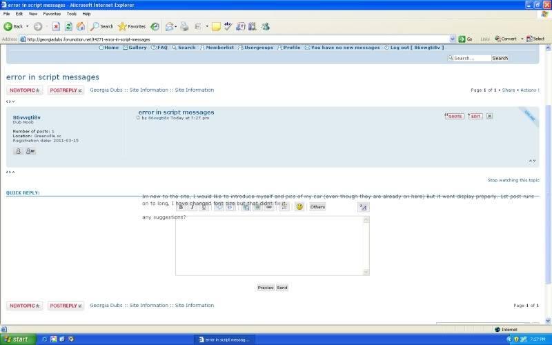 error in script messages Messedup