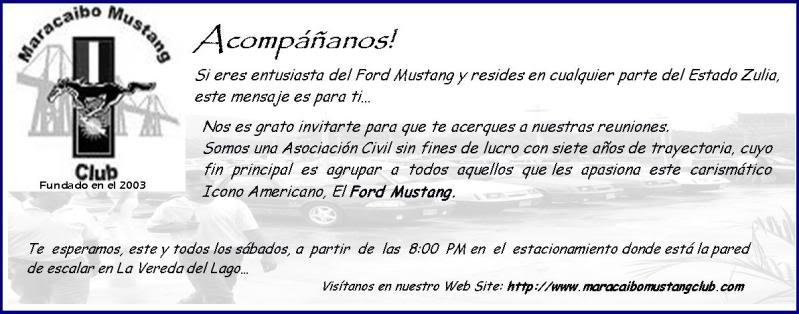 Plan Mustang Costa Oriental. Invitacion