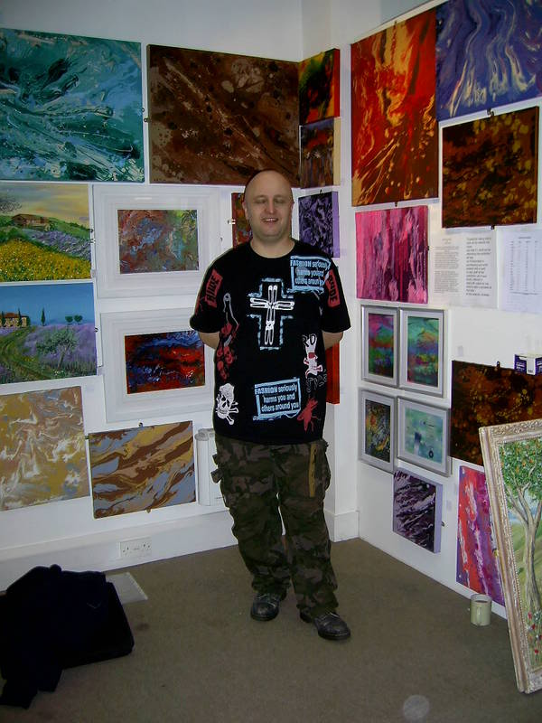 Me and a fellow artist at a recent event Exhibition002