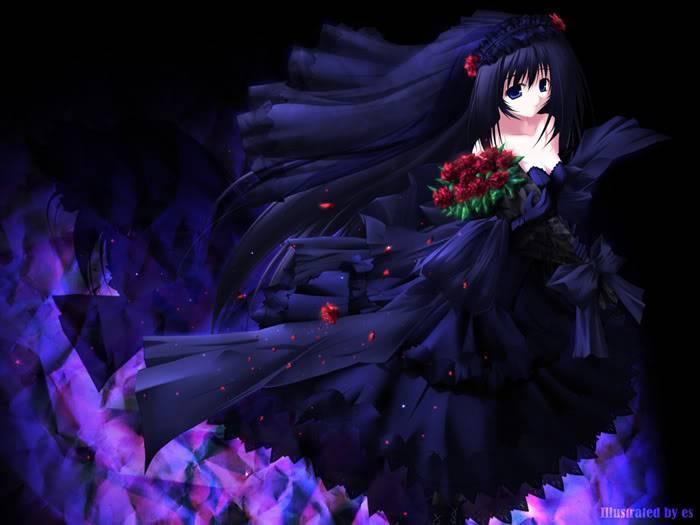 صور بنات انمى رووووعه لعيونكم يا حلوات Blackdress