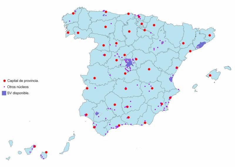 Resumen de avistamientos de los coches y triciclos de Google Street View en España SVEspaa