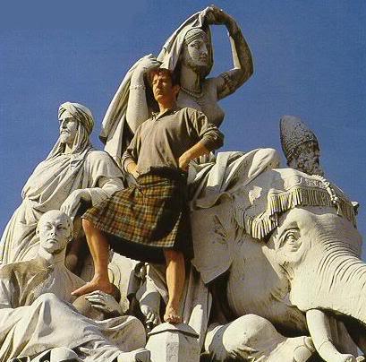 Place of pure men wearing kilts Kilt