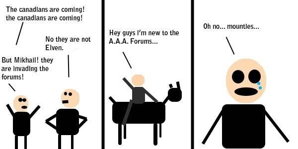 Comic #1: AAA and Canadians Aaamounties-1