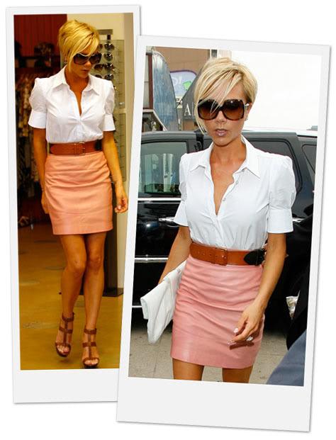 VIP стил Victoria-beckham-leather-skirt