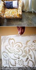Ручная роспись деревянного пола. Идеи Afcee0e8772072e18d70e13f94214b71