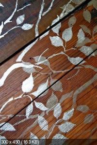Ручная роспись деревянного пола. Идеи 6e7e7254f963ba184af1abb1e7676feb