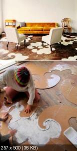 Ручная роспись деревянного пола. Идеи 4333ed58db025609e1cdc31303ad45f6