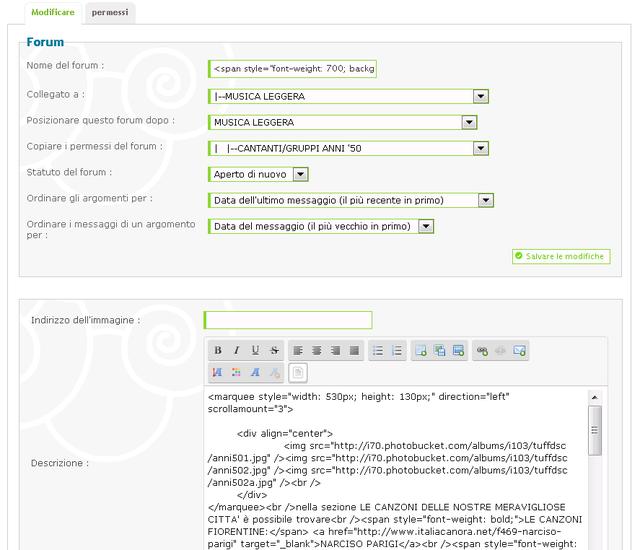 Modificare posizionamento dei forum in alcune delle sezioni della pagina principale Rich5
