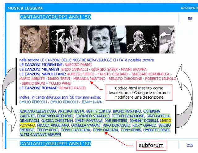 Modificare posizionamento dei forum in alcune delle sezioni della pagina principale Rich9