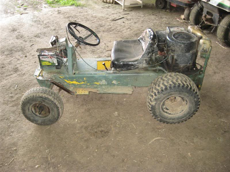First fast mower built, rear engine Hahn. Picture106Medium