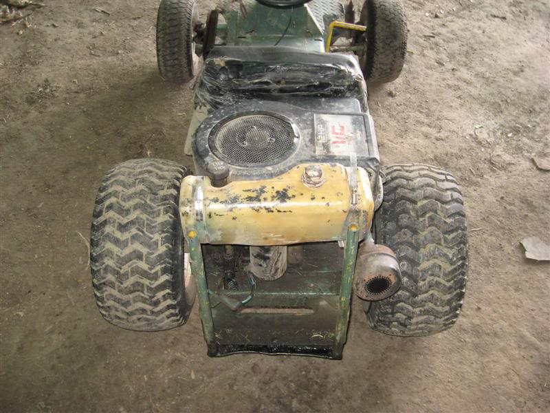 First fast mower built, rear engine Hahn. Picture109Medium