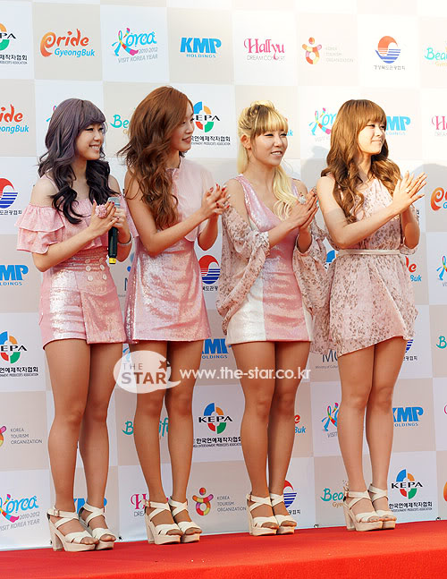 SECRET en la alfombra roja del Dream Concert 2011 2011100301056_1